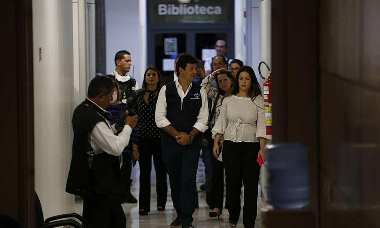 Dias antes da demissão, Mandetta já havia alertado colaboradores de que a saída dele no cargo estava próxima Foto: Jorge William / Agência O Globo - 06/04/2020