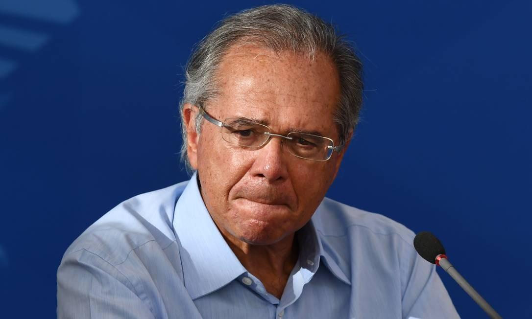 O ministro da Economia, Paulo Guedes Foto: Evaristo Sa / AFP