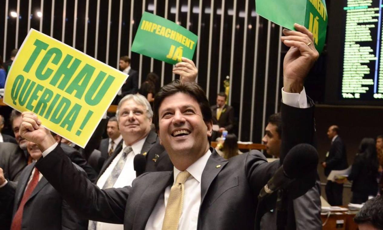 Como parlamentar, o ex-ministro votou pelo impeachment da ex-presidente Dilma Rousseff Foto: Reprodução / Twitter - 16/04/2020