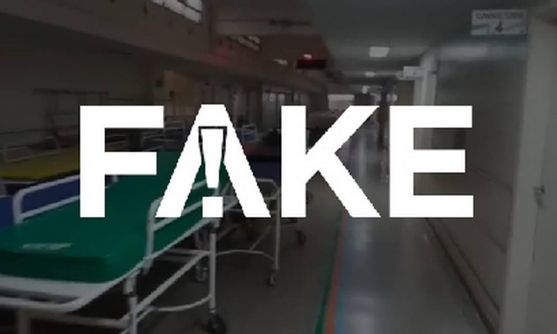 É #FAKE que vídeo mostre Hospital das Clínicas de São Paulo vazio Foto: Reprodução