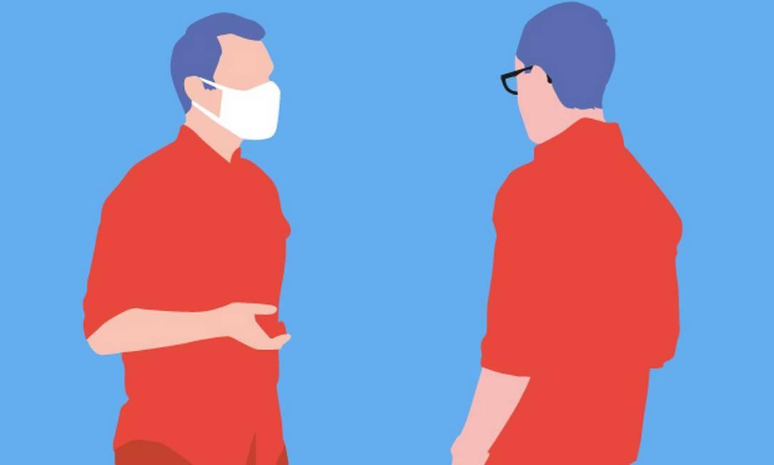 Como dialogar com quem subestima o novo coronavírus - conversa Foto: Editoria de arte
