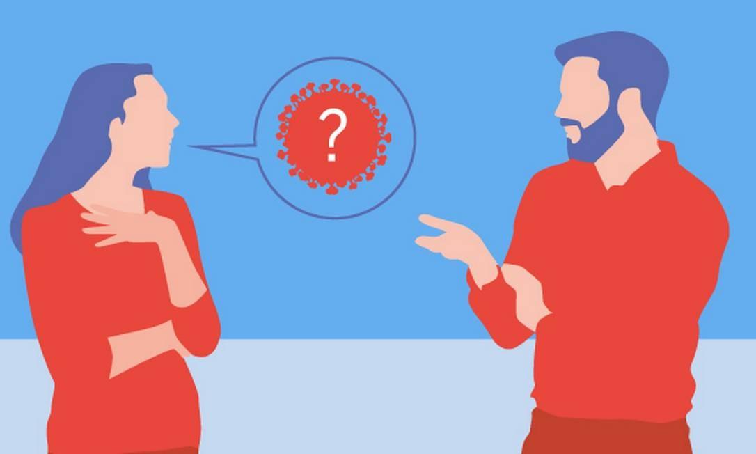 Como dialogar com quem subestima o novo coronavírus - doença imprevisível Foto: Editoria de arte