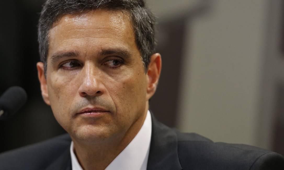 O presidente do BC, Roberto Campos Neto: atuação do BC divide senadores e deputados Foto: Jorge William/26-2-2019 / Agência O Globo