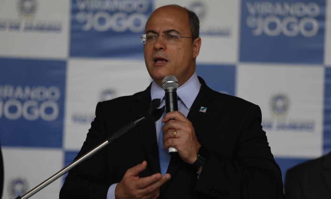 Governador do Rio, Wilson Witzel Foto: Fabiano Rocha / Agência O Globo