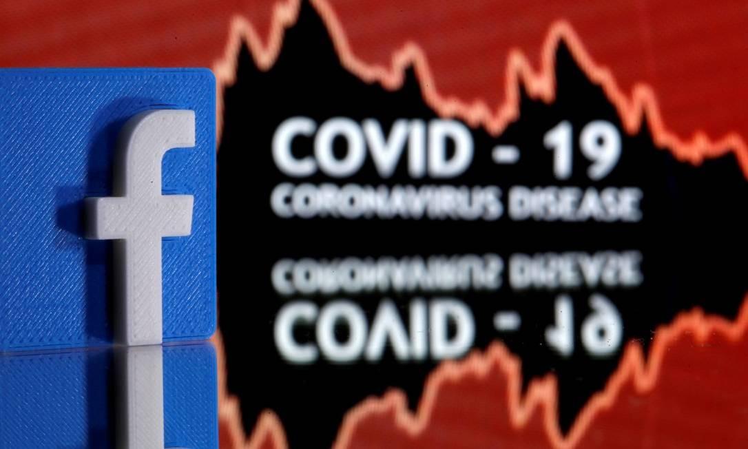Facebook vai alertar usuários que interagiram com notícias falsas sobre a Covid-19 Foto: Dado Ruvic / REUTERS