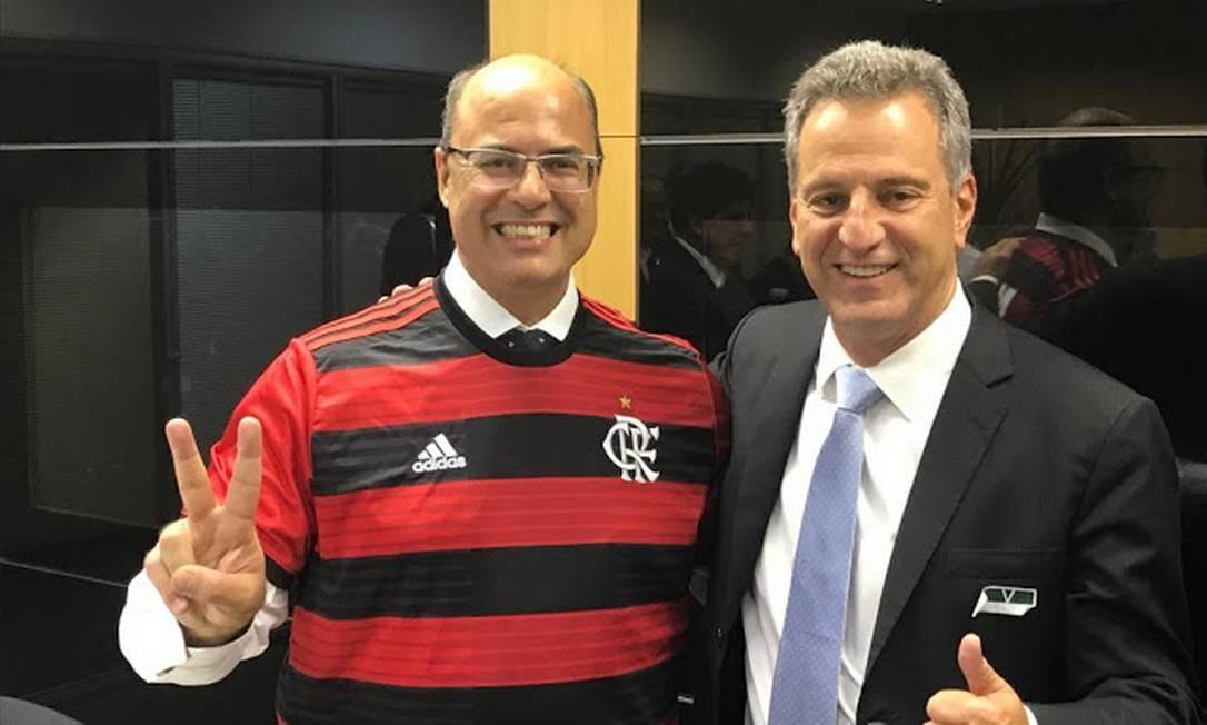 Witzel e Landim no Maracanã Foto: Divulgação
