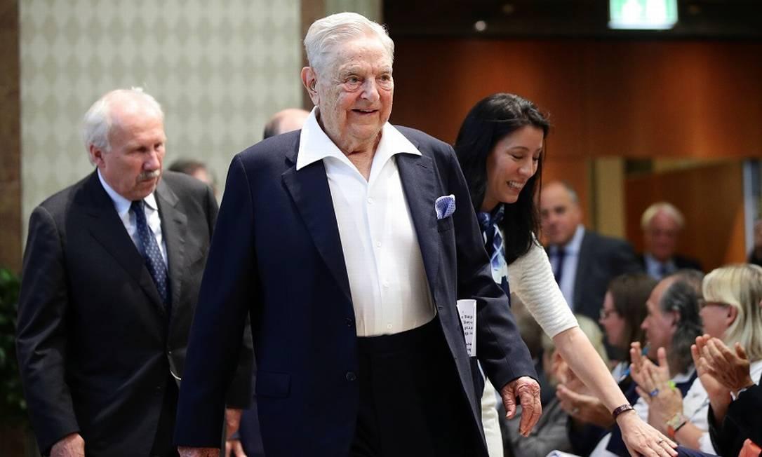 O investidor George Soros: doações contra a pandemia. Foto: LISI NIESNER / Reuters