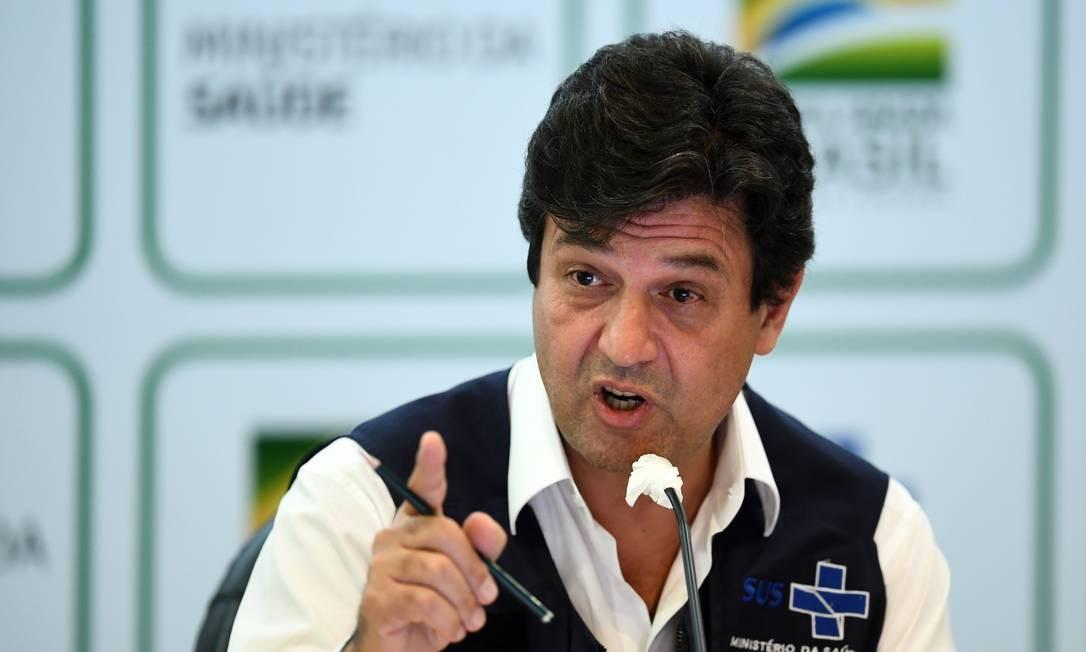 O ministro Luiz Henrique Mandetta anuncia a sua demissão Foto: EVARISTO SA / AFP