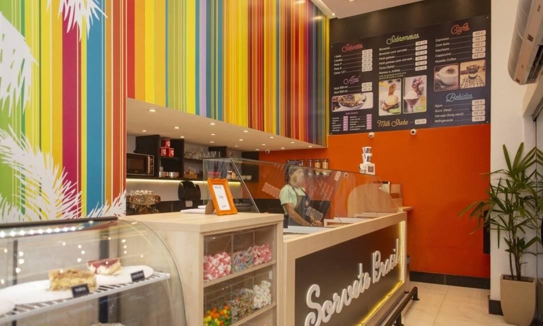 A Sorvete Brasil está só com delivery em uma unidade e contratos suspensos Foto: Divulgação