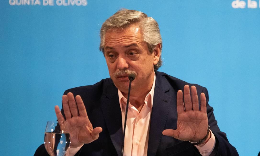 Presidente da Argentina, Alberto Fernández Foto: AFP