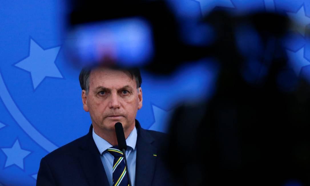 O presidente Jair Bolsonaro 16/04/2020 Foto: ADRIANO MACHADO / REUTERS