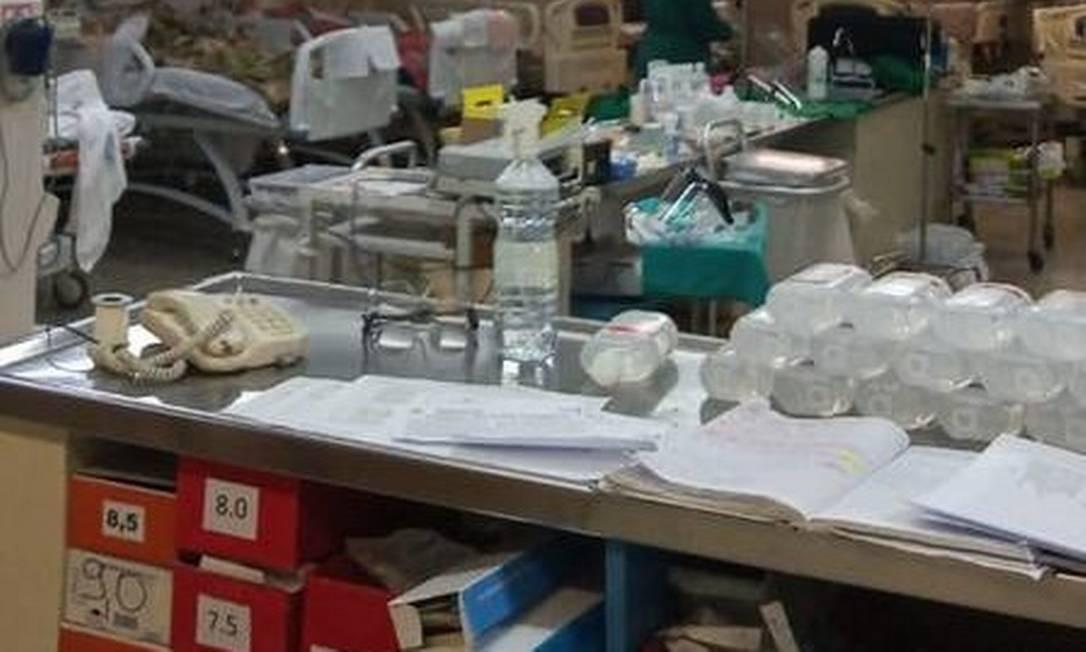 Equipe do Hospital municipal Souza Aguiar sofre com falta de equipamentos de proteção Foto: Reprodução