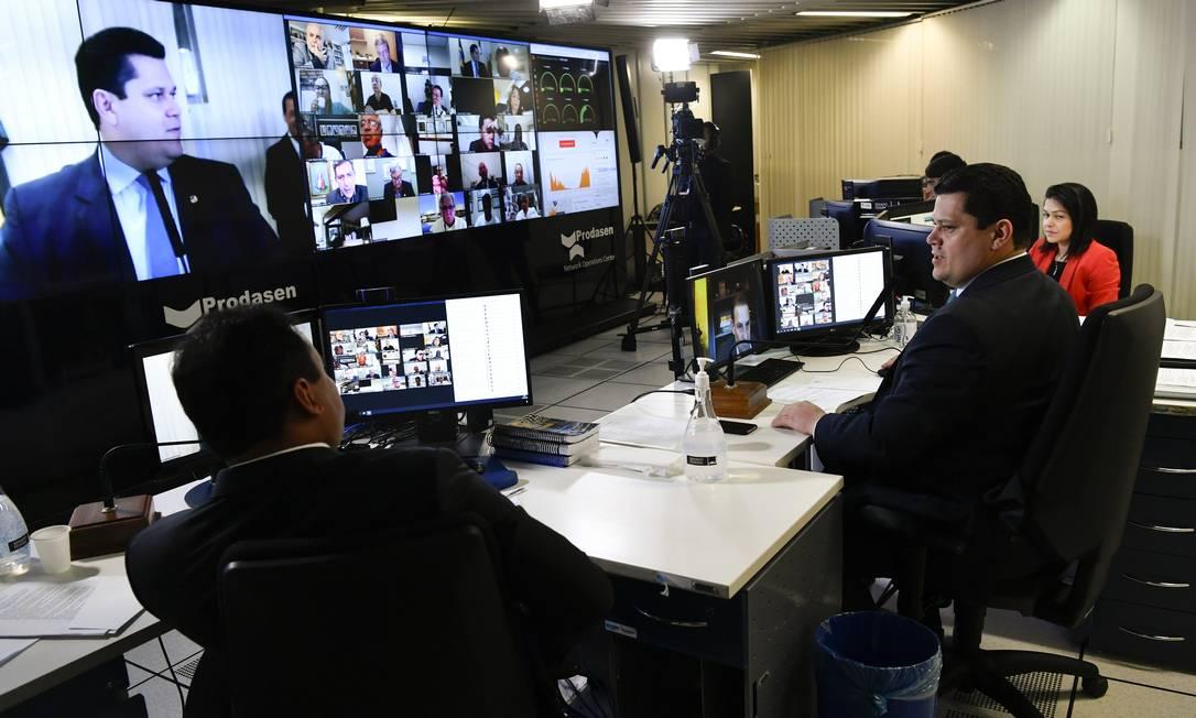 O Senado apreciou o projeto em sessão virtual Foto: Leopoldo Silva/Agência Senado / Agência O Globo