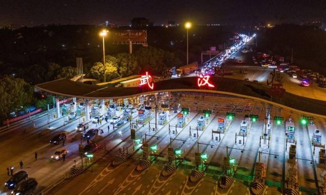 Wuhan, local de surgimento da pandemia, permitiu retomada do ir e vir Foto: STR