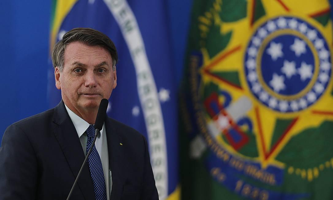O presidente Jair Bolsonaro 17/04/2020 Foto: Jorge William / Agência O Globo