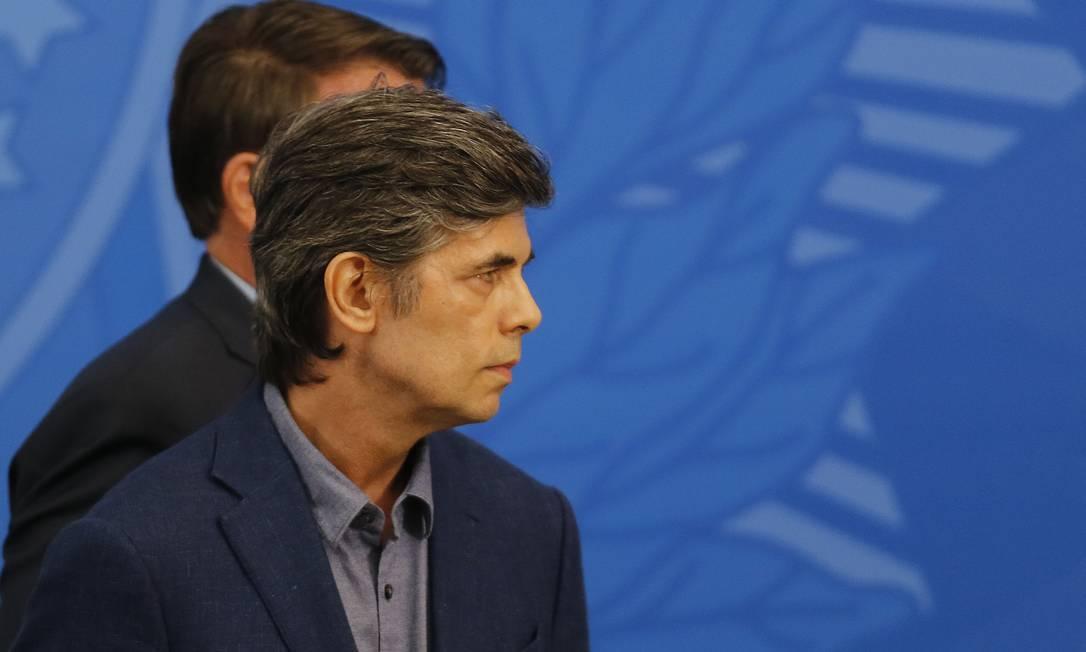 O novo ministro da Saúde, Nelson Teich, no Palácio do Planalto 16/04/2020 Foto: Jorge William / Agência O Globo
