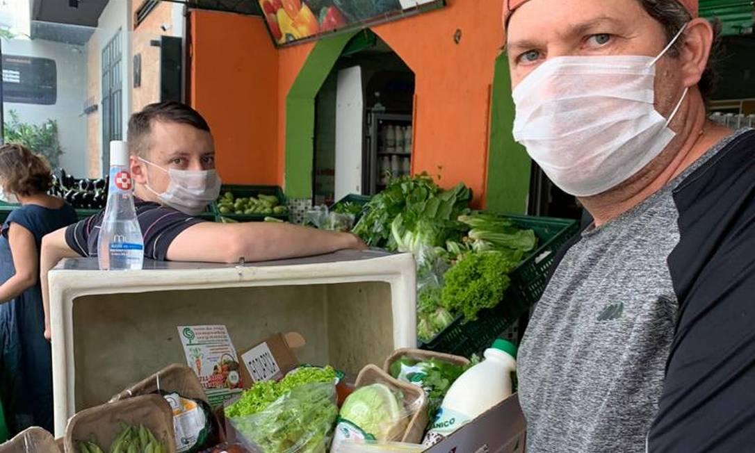 Anderson Lima é sócio de loja de orgânicos: alta nos pedidos. Foto: Veio da Roça / Divulgação