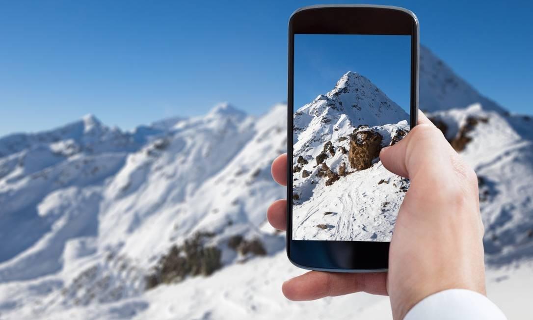 Aplicativo Chile 360, que permite explorar paisagens do país em realidade virtual Foto: Divulgação