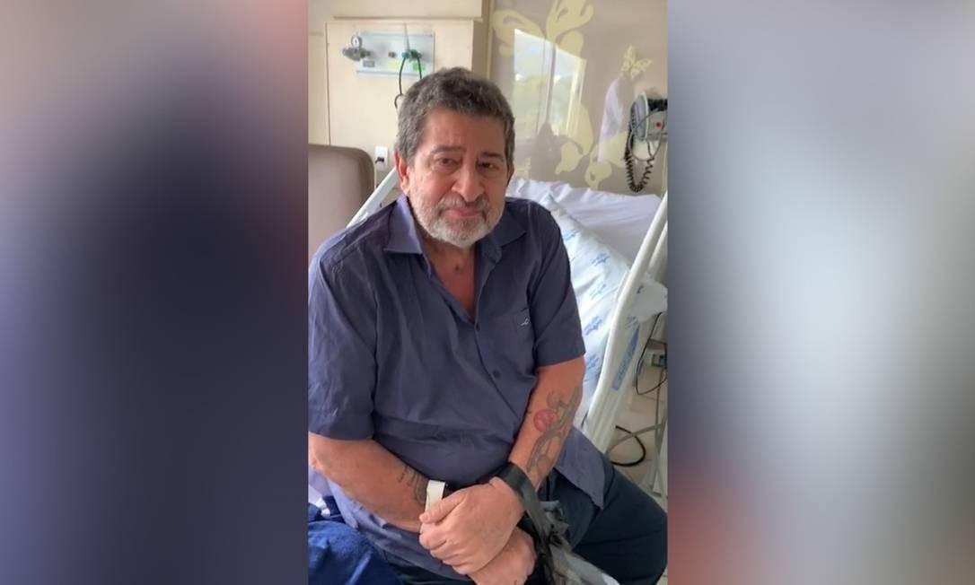 O ex-vereador e médico Édison Regio de Moraes deixa o hospital após 35 dias de internação Foto: Reprodução