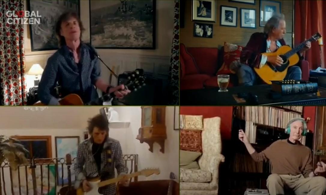 Os Rolling Stones interpretam 'You can't always get what you want' Foto: Reprodução