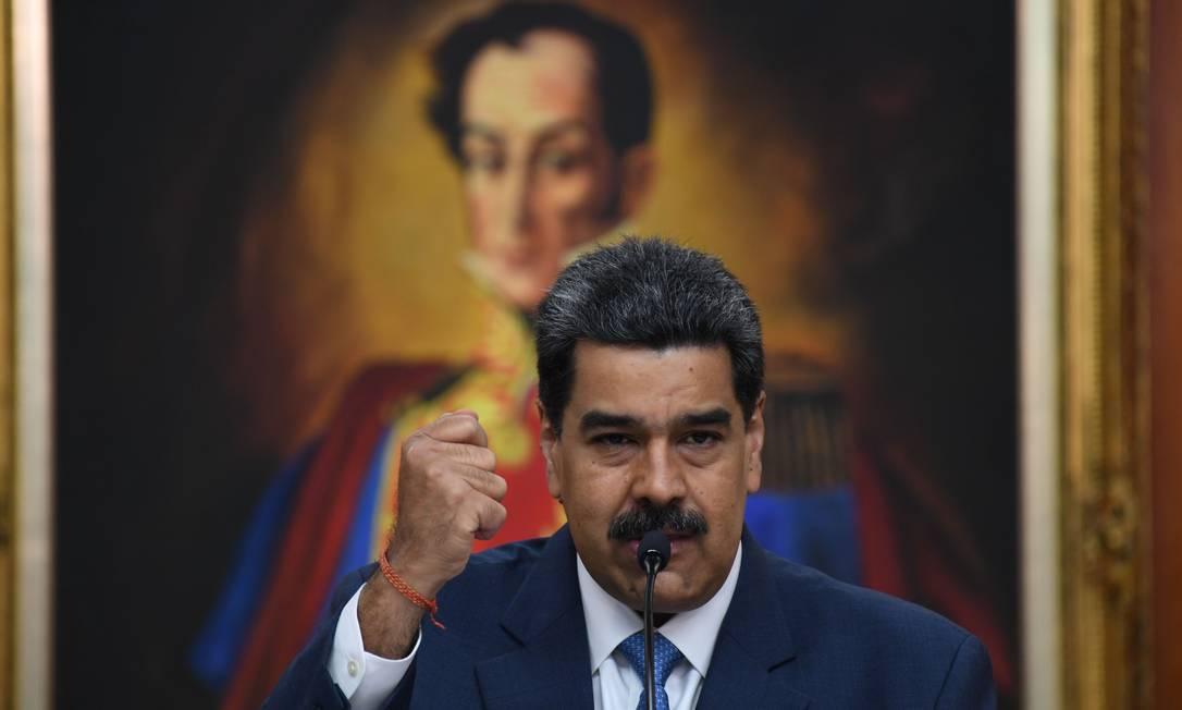 Presidente da Venezuela, Nicolás Maduro Foto: YURI CORTEZ / AFP