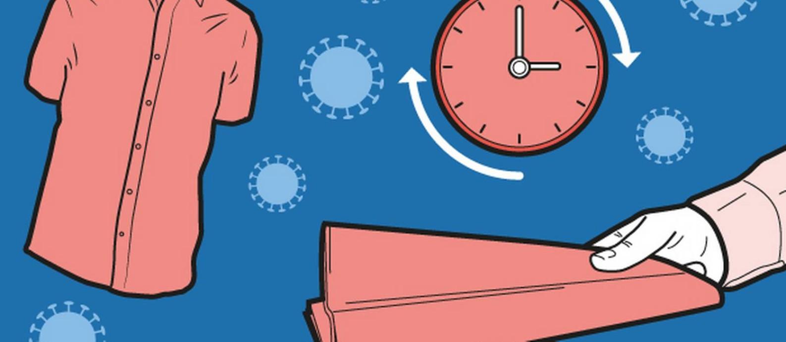 Novo coronavírus pode sobreviver por períodos diferentes fora do corpo humano, dependendo da superfície em que repousa Foto: Editoria de arte
