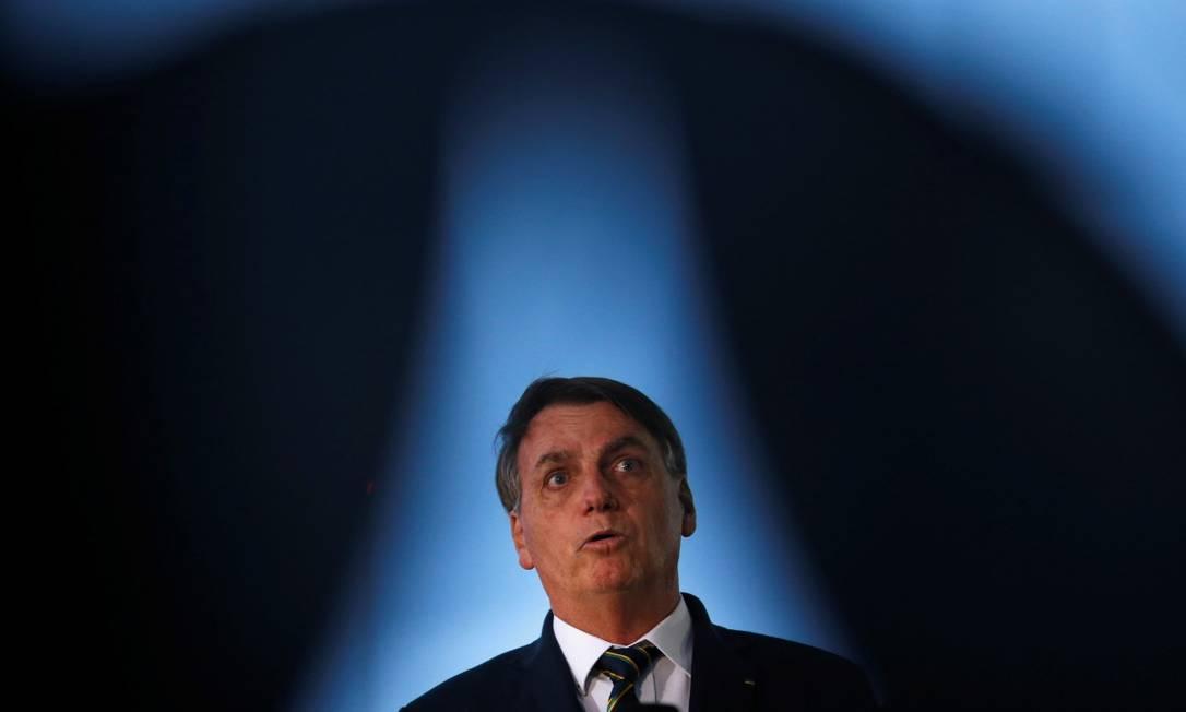 Presidente Jair Bolsonaro, ao chegar no Palácio da Alvorada Foto: UESLEI MARCELINO / REUTERS / 20-04-2020