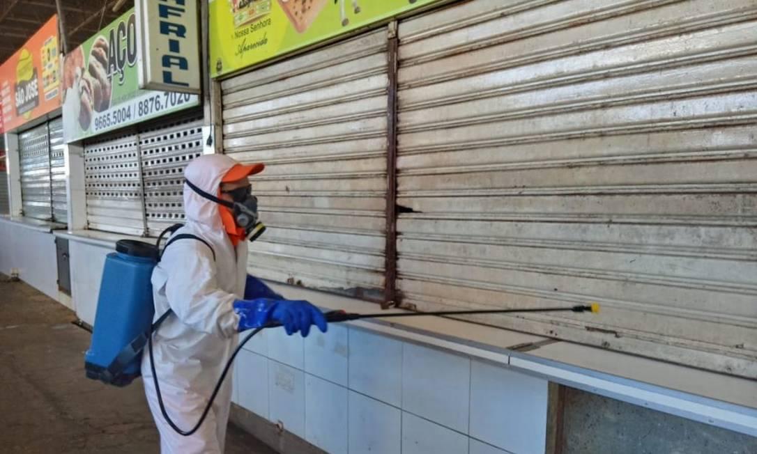 Após morte de açougueiro, prefeitura iniciou desinfecção de Mercado da Produção de Maceió Foto: Divulgação