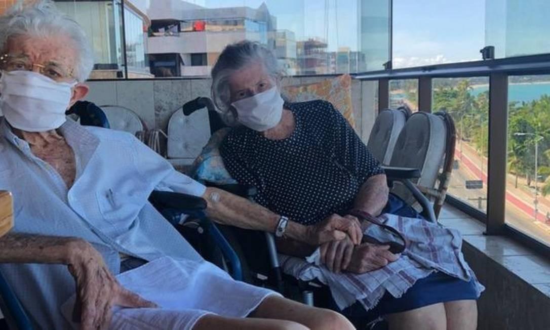 Jovino e Zélia Feitosa são casados há 65 anos e enfretaram a covid-19 juntos Foto: Reprodução