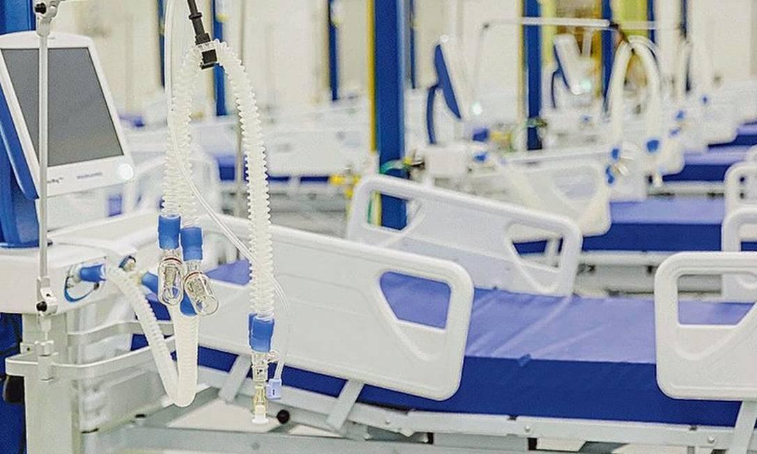 Hospital de campanha no Recife: preços dos insumos e equipamentos subiram de forma exponencial Foto: Andréa Rêgo / Divulgação