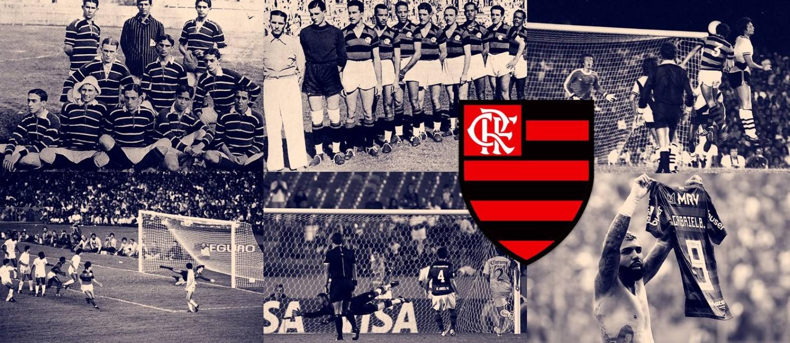 Seis jogos que ajudam a entender a história do Flamengo Foto: Editoria de Arte