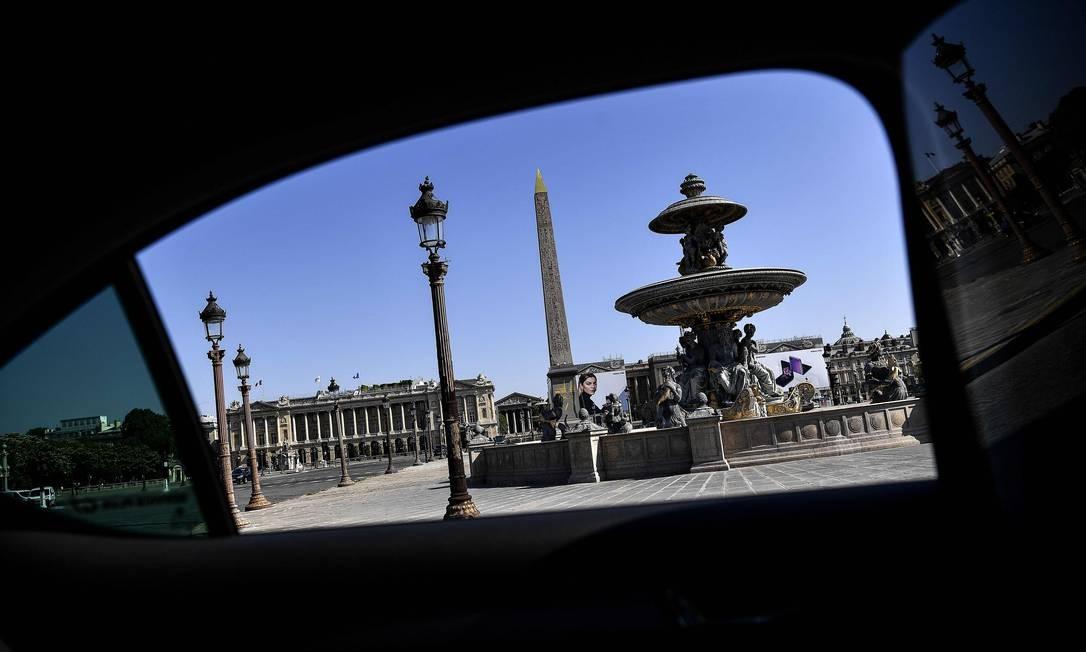 Obelisco Louxor, na Place de la Concorde, em Paris Foto: CHRISTOPHE ARCHAMBAULT / AFP