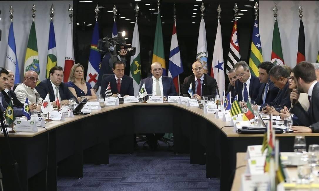 Reunião do Fórum de Governadores Foto: José Cruz / Agência Brasil