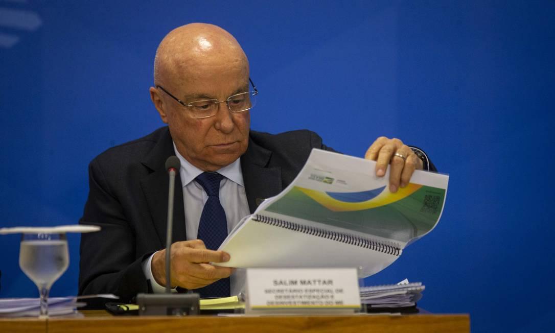 O secretário disse que o Ministério da Economia está elaborando planos com o dinheiro privado Foto: Daniel Marenco / Agência O Globo