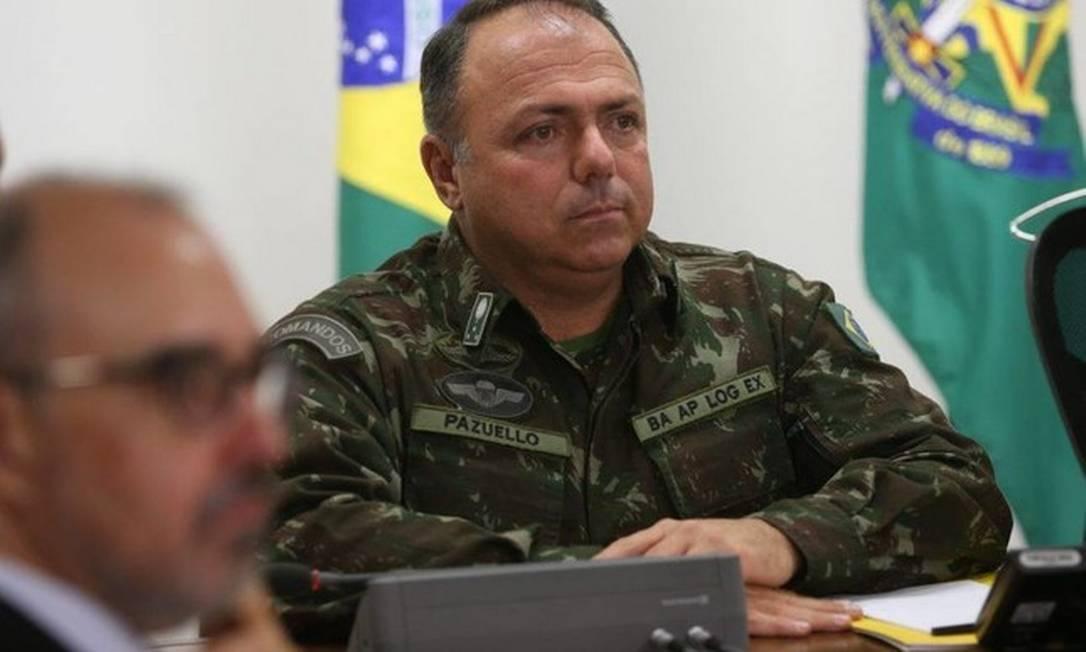 O general Eduardo Pazuello, que assume como número dois do Ministério da Saúde Foto: Valter Campanato / Agência Brasil