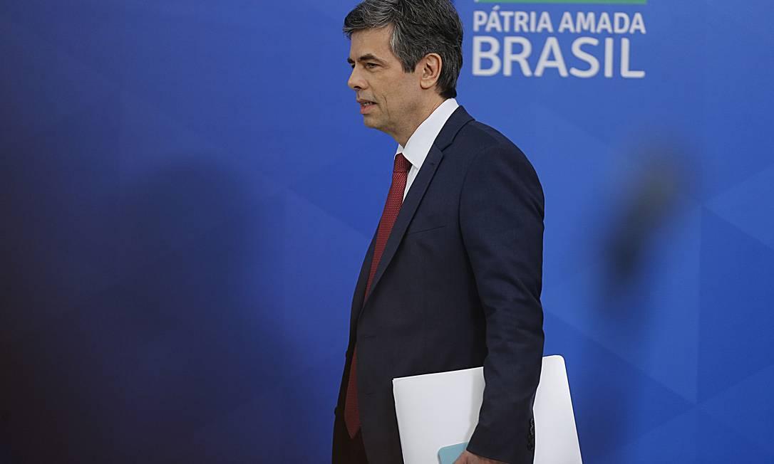 O ministro da Saúde, Nelson Teich ( 22-04-2020) Foto: Jorge William / Agência O Globo