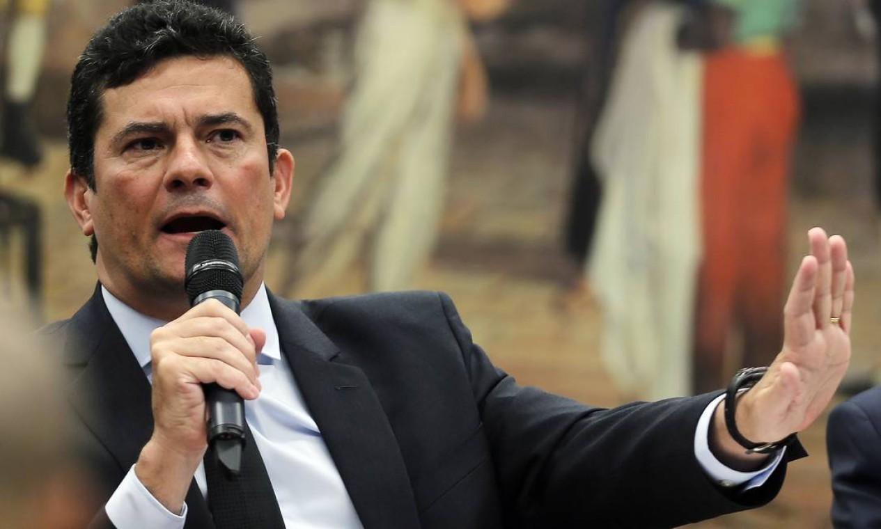 O ministro participa da comissão especial na Câmara que analisa a volta da prisão após condenação em segunda instância Foto: Jorge William / Agência O Globo - 12/02/2020