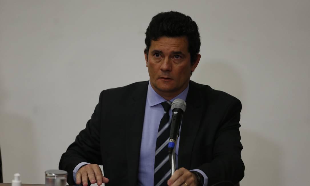 Ministro da Justiça e Segurança Pública Sergio Moro Foto: Pablo Jacob / Pablo Jacob