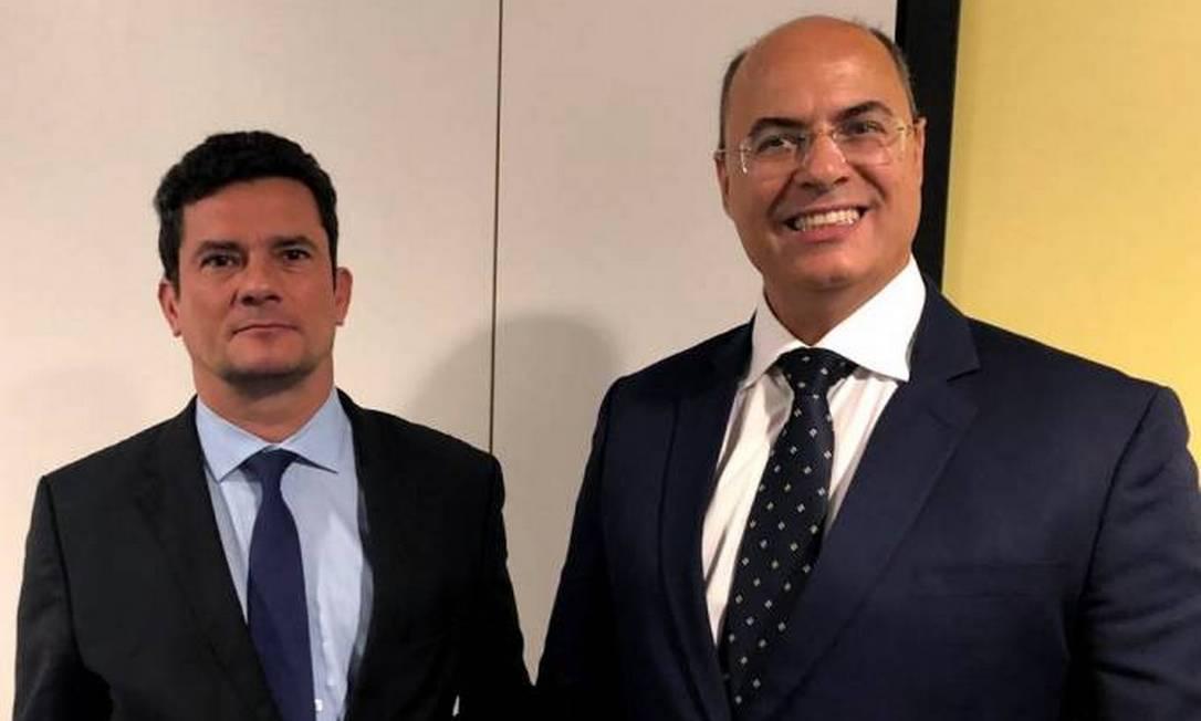 Moro e Witzel durante audiência em Brasília em 2019 Foto: Reprodução internet