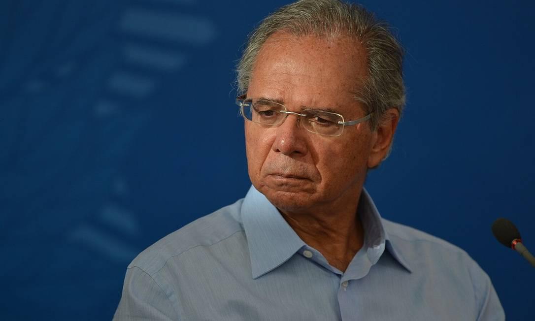 O ministro da Economia, Paulo Guedes: incerteza quanto ao futuro no governo. Foto: Marcello Casal Jr. / Agência O Globo