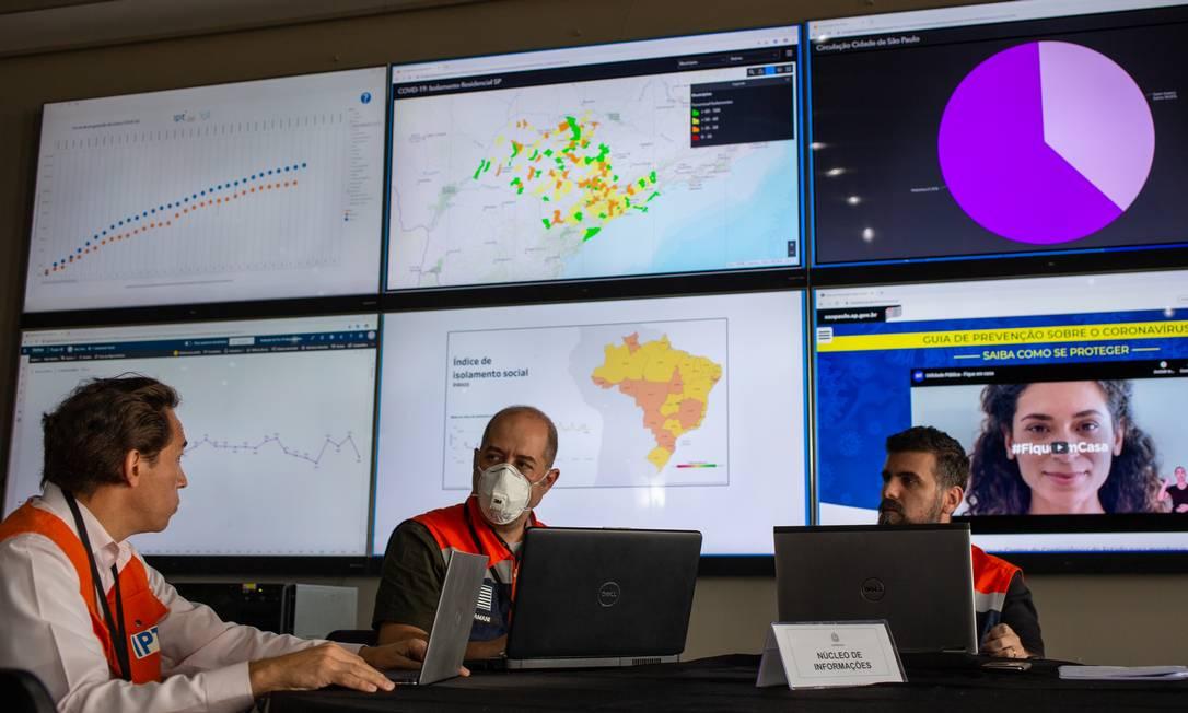SIMI, centro de controle contra COVID-19, que usa dados de celulares. CRÉDITO: Luis Blanco/Divulgação Foto: Luis Blanco / .