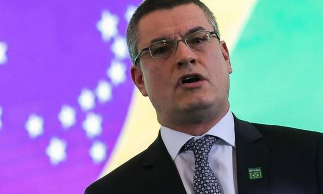 Maurício Valeixo presta depoimento no inquérito que apura supostas interferências indevidas de Jair Bolsonaro Foto: JOSÉ CRUZ/AGÊNCIA BRASIL