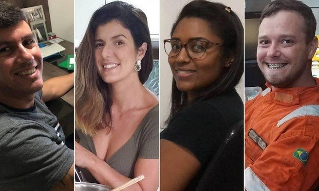 Felipe, Debora, Janaína e Diego: busca por cursos online Foto: Arquivo pessoal