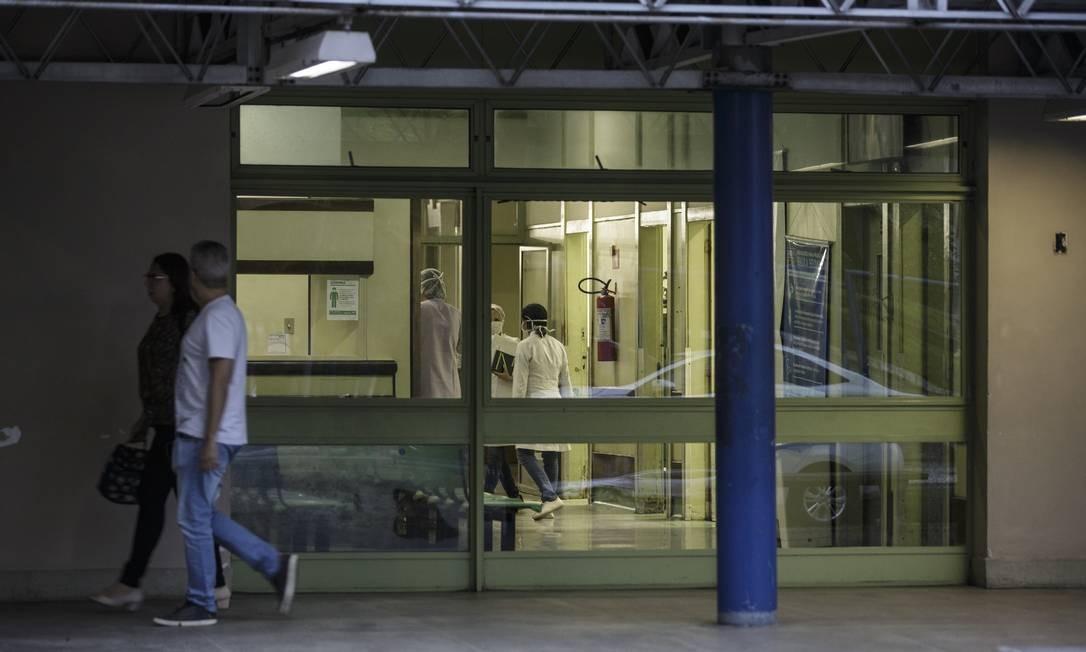 Hospital Municipal Lourenço Jorge, onde o técnico de enfermagem Jorge Alexandre de Oliveira Andrade travalhava até ser diagnosticado com Covid-19 Foto: Alexandre Cassiano / Agência O Globo