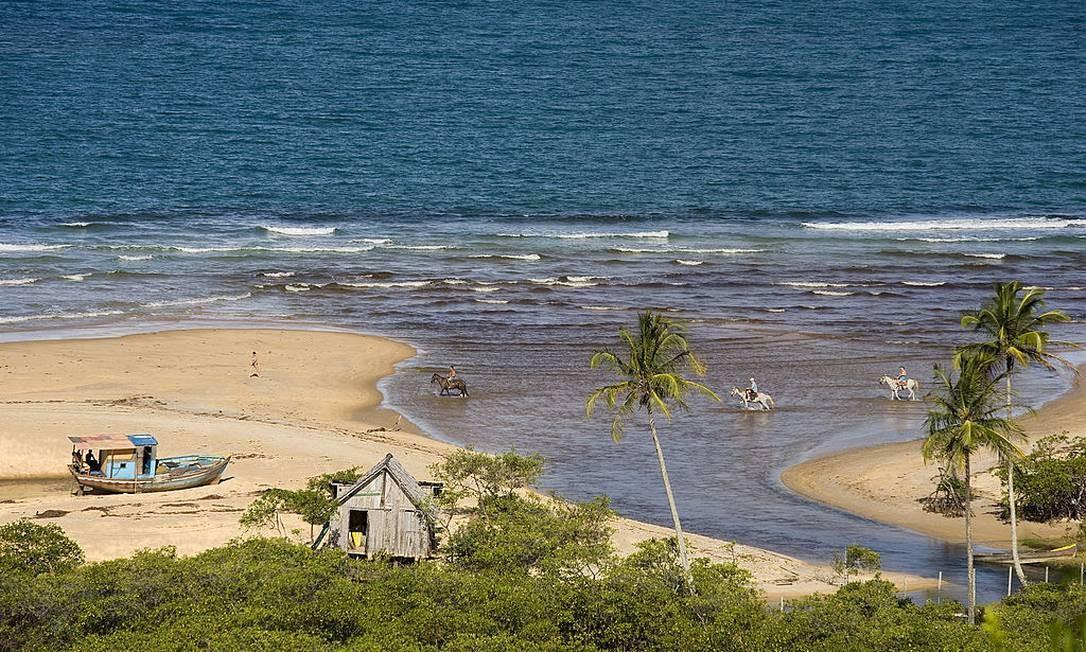 Distrito do município de Porto Seguro, Trancoso se tornou um dos focos de coronavírus na Bahia Foto: Javier Teniente / Getty Images