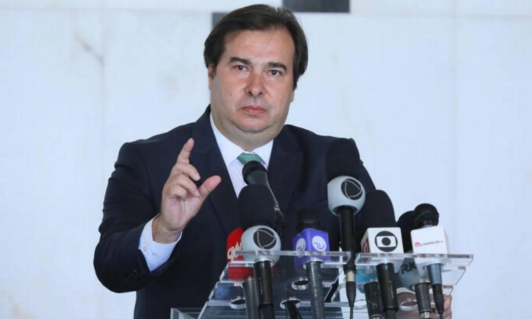 O presidente da Câmara, Rodrigo Maia 27/04/2020 Foto: Agência Câmara