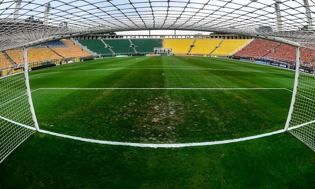 O estádio do Pacaembu, onde fica o Museu do Futebol Foto: Renato Pizzutto / Renato Pizzutto