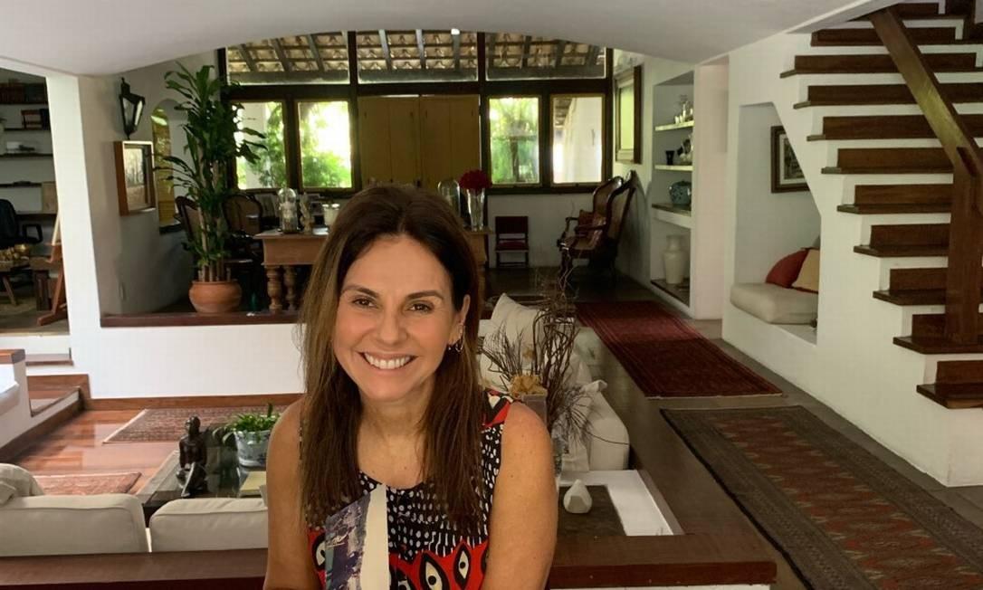 A gerente comercial Geisa Rabello fez uma viagem ao passado por meio das fotos da família Foto: Arquivo pessoal