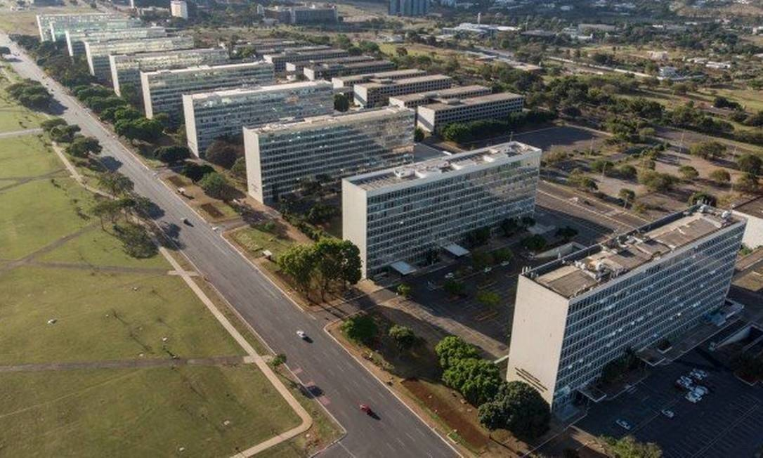 A Esplanada dos Ministérios, em Brasília Foto: Brenno Carvalho / Agência O Globo