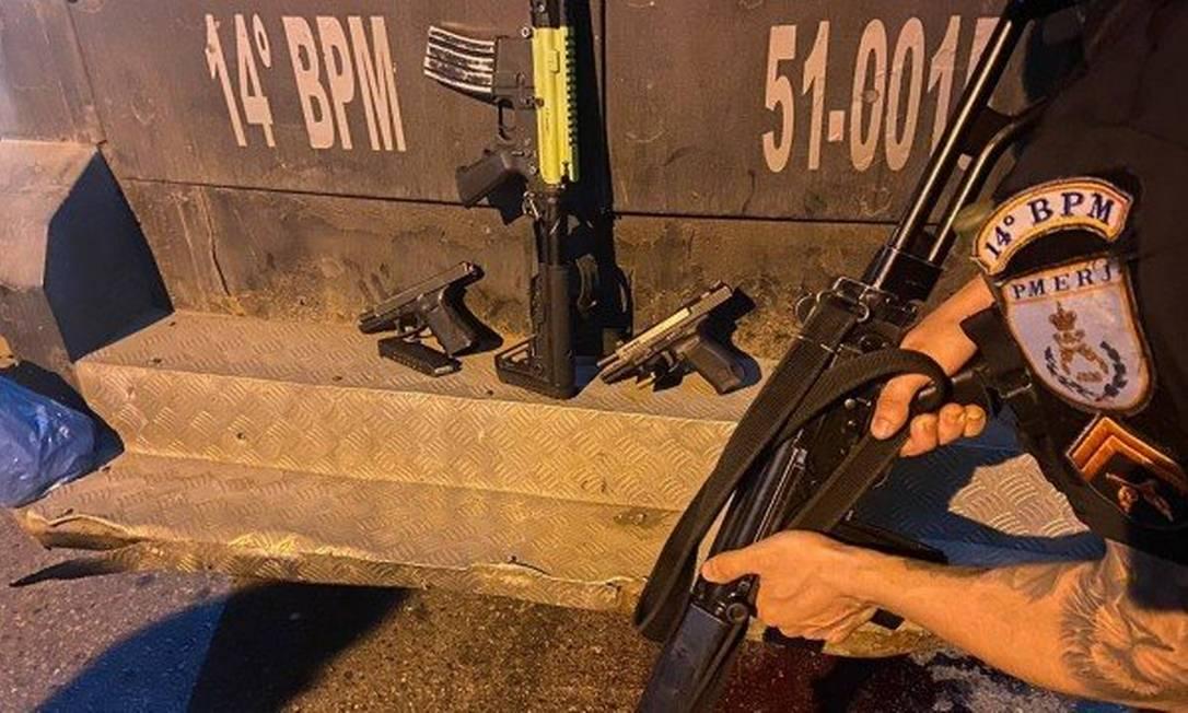 As armas apreendidas na operação Foto: Divulgação